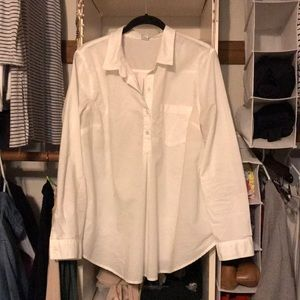 Old navy maternity white collared shirt